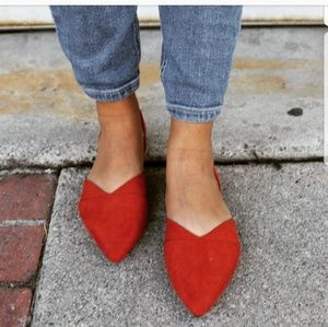 🚨END OF SUMMER SALE// Brick Red Flat